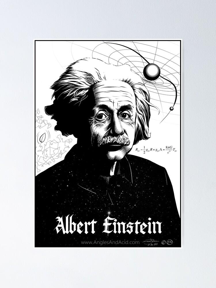 Alternate view of Albert Einstein Poster