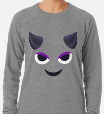Emoji: Lila Gesicht Hörner Leichter Pullover