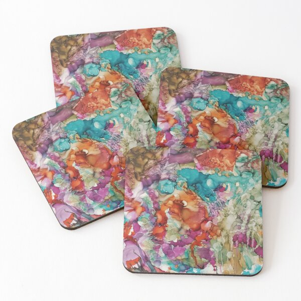 Hallucination in the mountains Coasters (Set of 4)