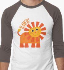 Rawr Lion Men's Baseball ¾ T-Shirt