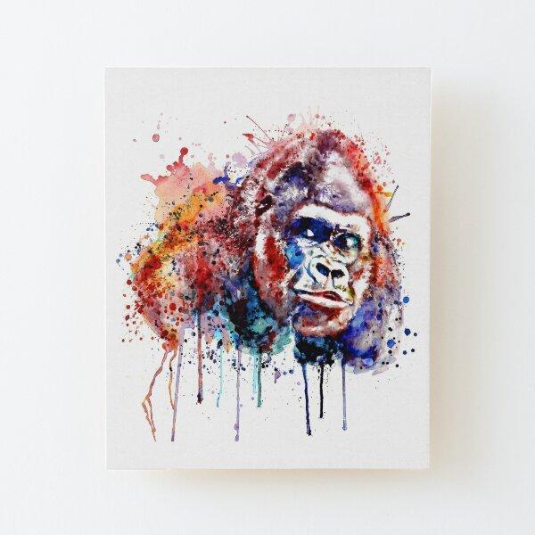 Gorilla Wood Mounted Print