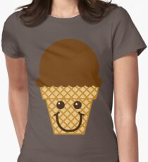 Chocolate Ice Cream Cone Womens Fitted T-Shirt