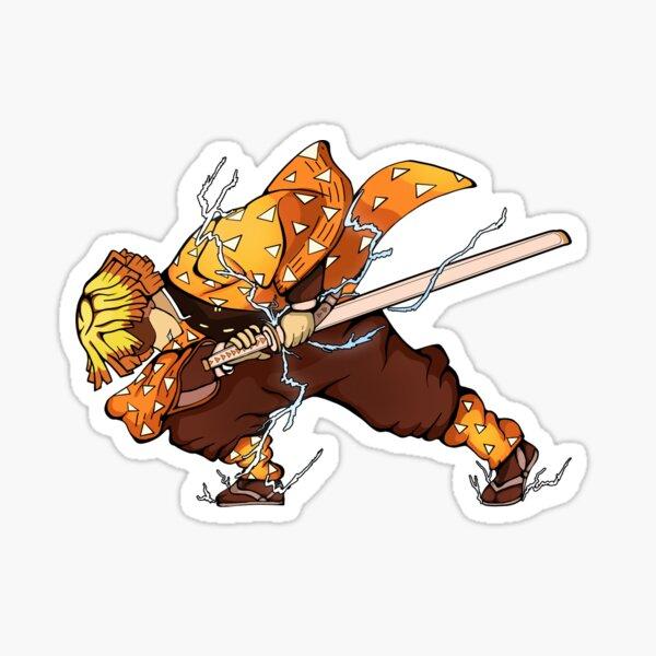 Zenitsu from Demon Slayer Sticker