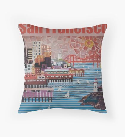 Port of San Francisco Throw Pillow