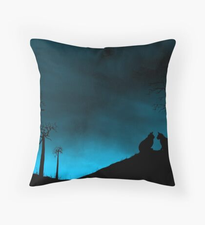 Purrfect Moment! Throw Pillow