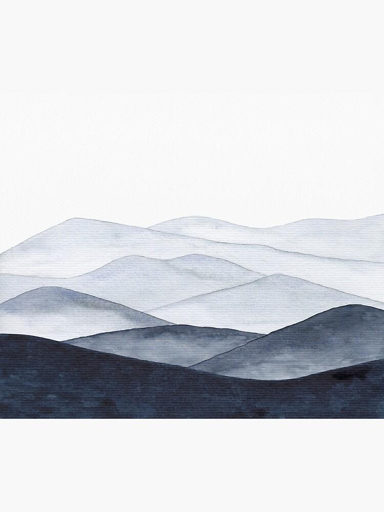 Abstract Indigo Mountains by ChipiArtPrints