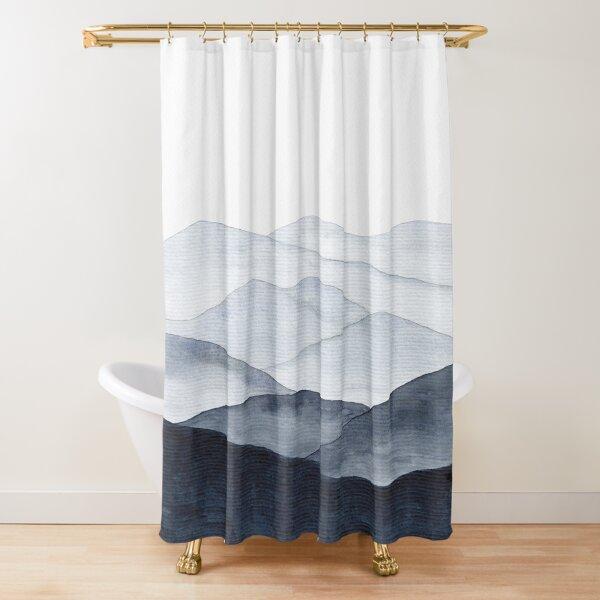 Abstract Indigo Mountains Shower Curtain