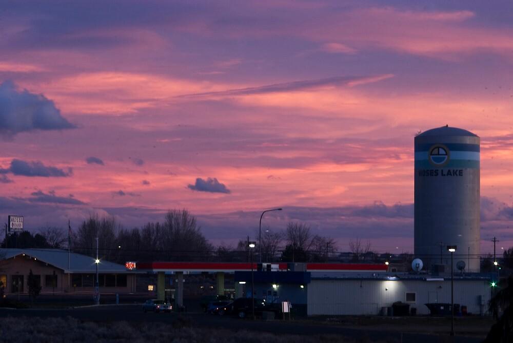 Evening Sky, Moses Lake by Harv Churchill