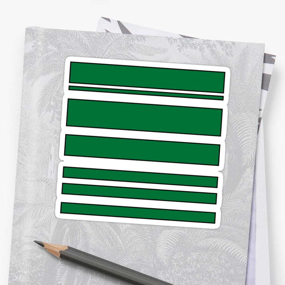 Green Stripes by Michelle Bennett