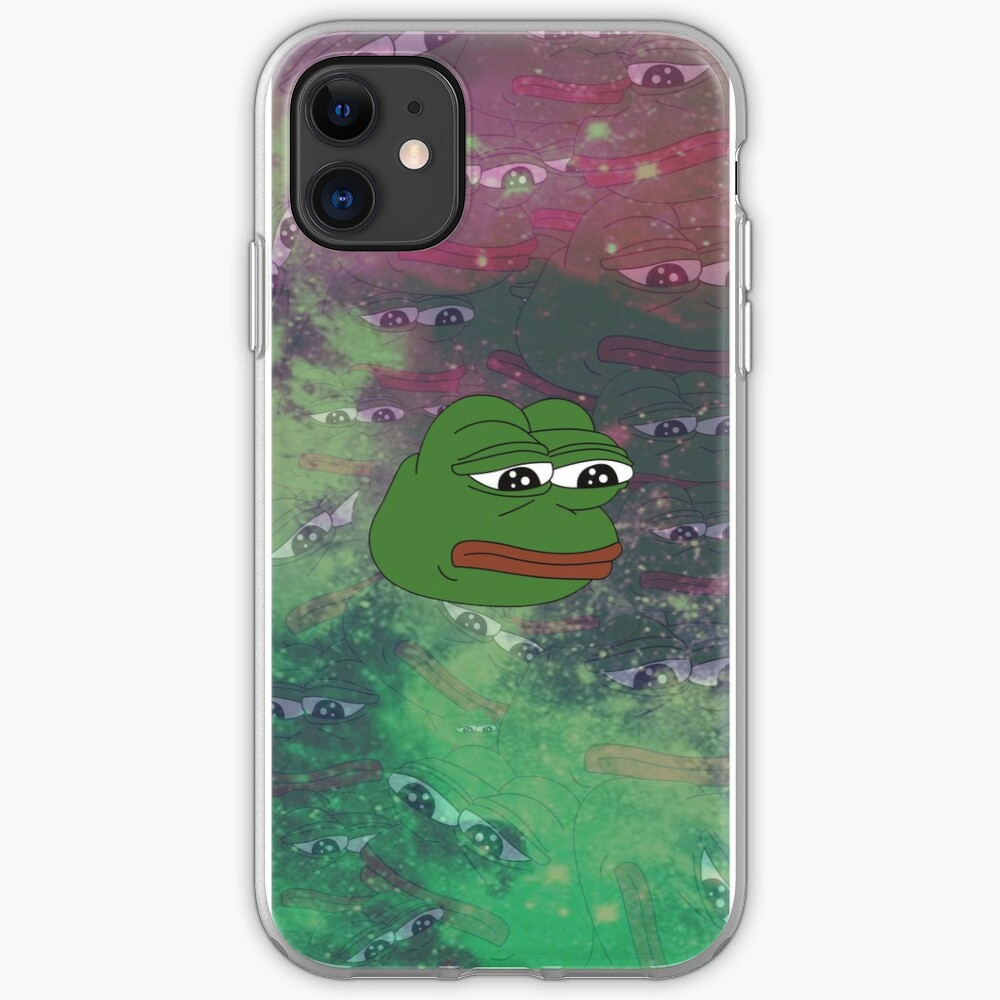 Rare Galaxy Pepe (Meme) iPhone Case & Cover