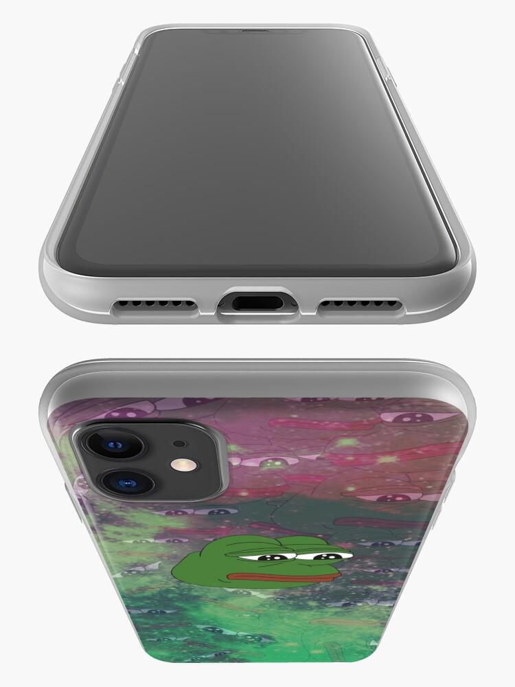 Alternate view of Rare Galaxy Pepe (Meme) iPhone Case & Cover