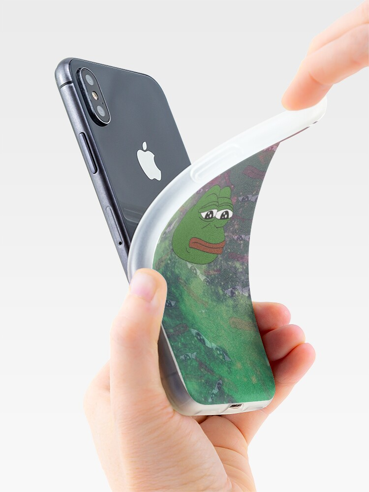 Alternate view of Rare Galaxy Pepe (Meme) iPhone Case & Cover