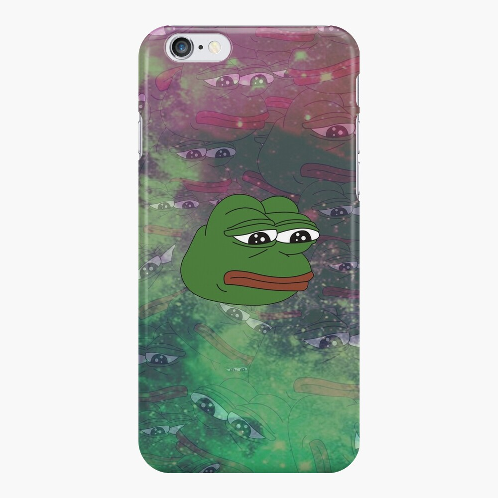 Rare Galaxy Pepe (Meme) iPhone Case & Cover