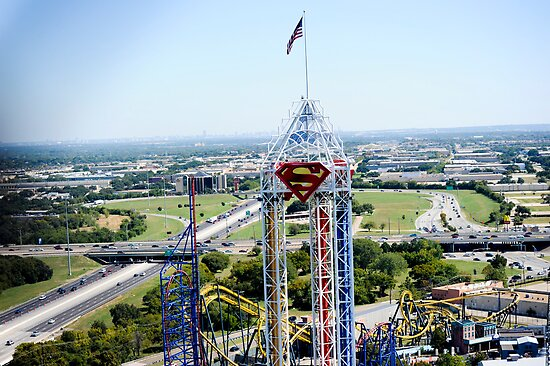 Quot Six Flags Over Texas Quot Poster By Malania Redbubble