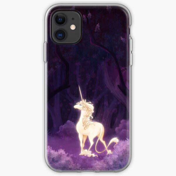 Unicorn in a Lilac Wood iPhone Soft Case
