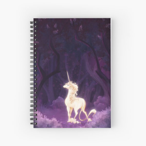 Unicorn in a Lilac Wood Spiral Notebook