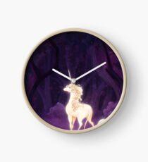 Unicorn in a Lilac Wood Clock