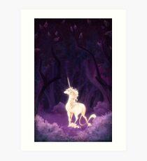 Unicorn in a Lilac Wood Art Print