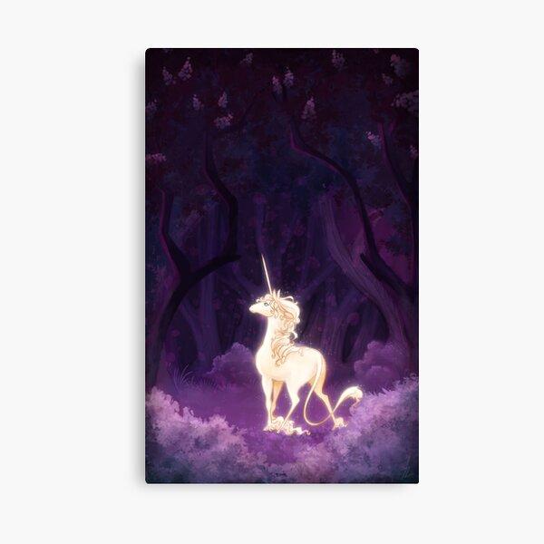 Unicorn in a Lilac Wood Canvas Print