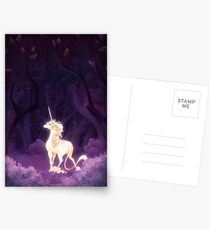 Unicorn in a Lilac Wood Postcards