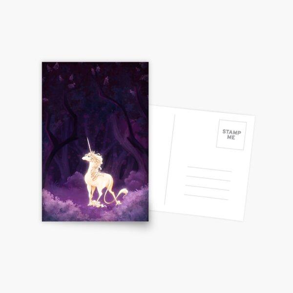 Unicorn in a Lilac Wood Postcard