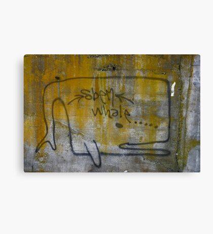 lichen whale Canvas Print