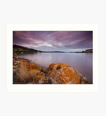 Port Cygnet Sunset Art Print