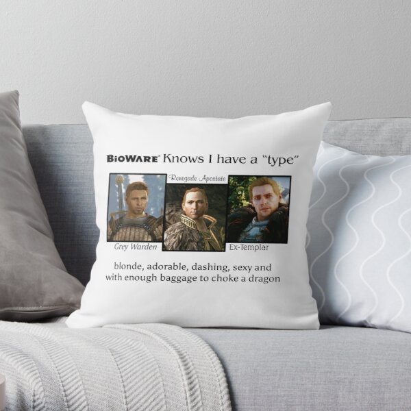 Yup I have a type (black text) Throw Pillow