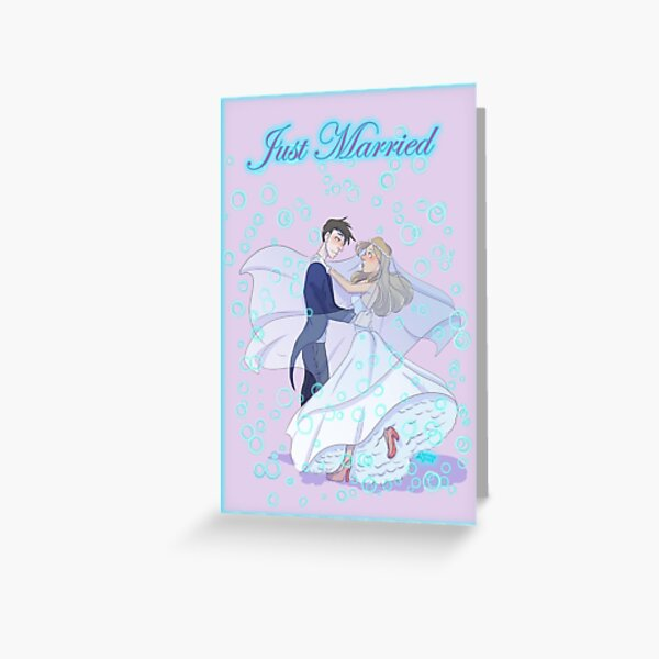 JUST MARRIED 2 Greeting Card