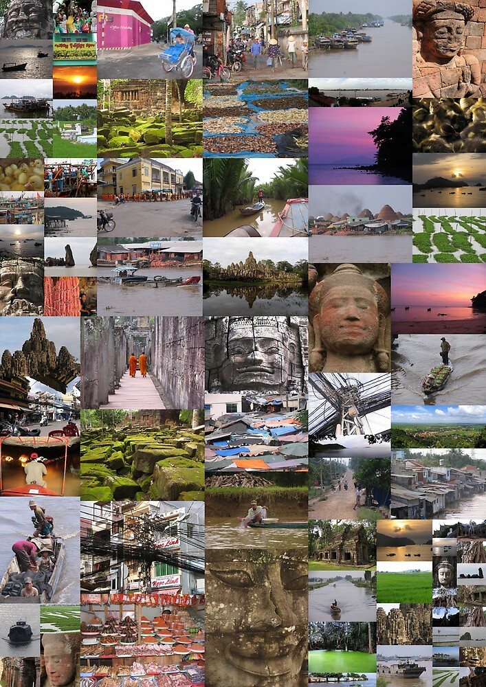 Quot Vietnam Cambodia Collage Quot By Dave Whyte Redbubble