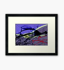 The fighter and his spirit Framed Print