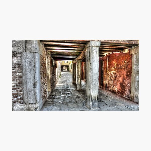 Venice backstreet - an unusual view Photographic Print