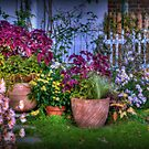 Autumn Flowers in the Garden by Monica M. Scanlan
