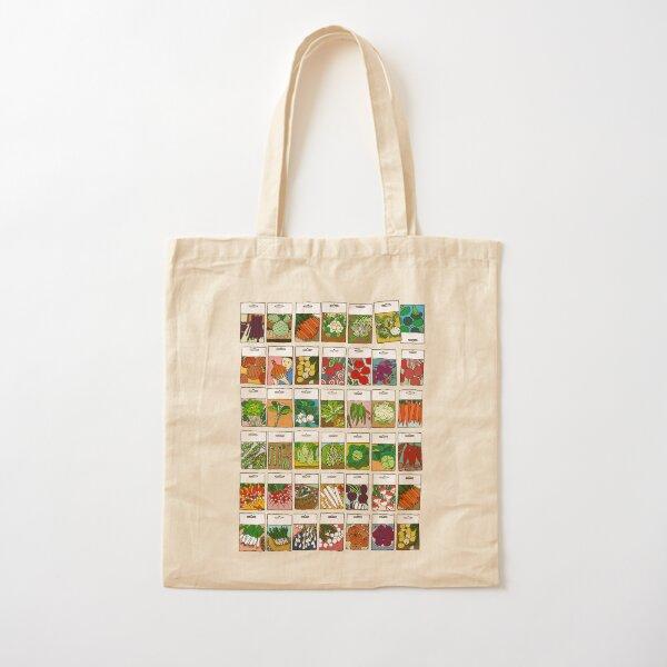 Vegetable seeds pattern Cotton Tote Bag