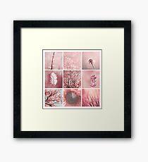 3x3 pink w Framed Print