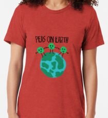 Peas on Earth Tri-blend T-Shirt