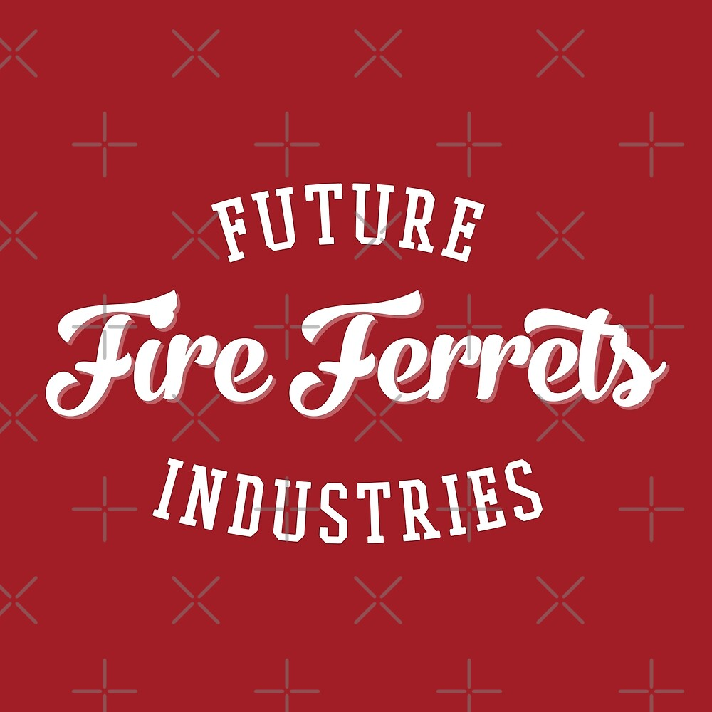 Future Industries' Fire Ferrets (White on Red) by cnfsdkid