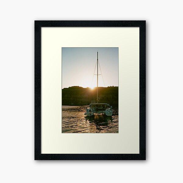 Catamaran at Sunset Framed Art Print
