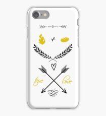 Fire + Bread = True Love iPhone Case/Skin