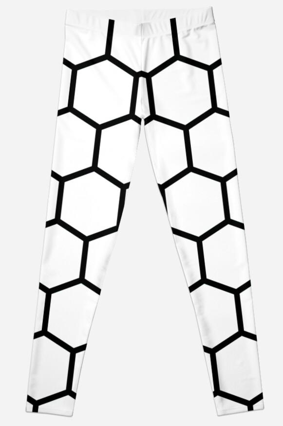Honeycomb Swirl, White on Black by thomasb139