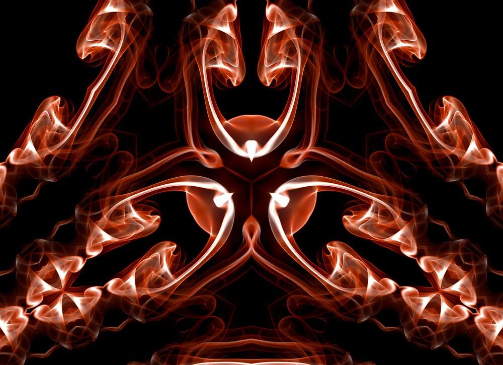Vipers - Red Digital Smoke Art by David Crausby