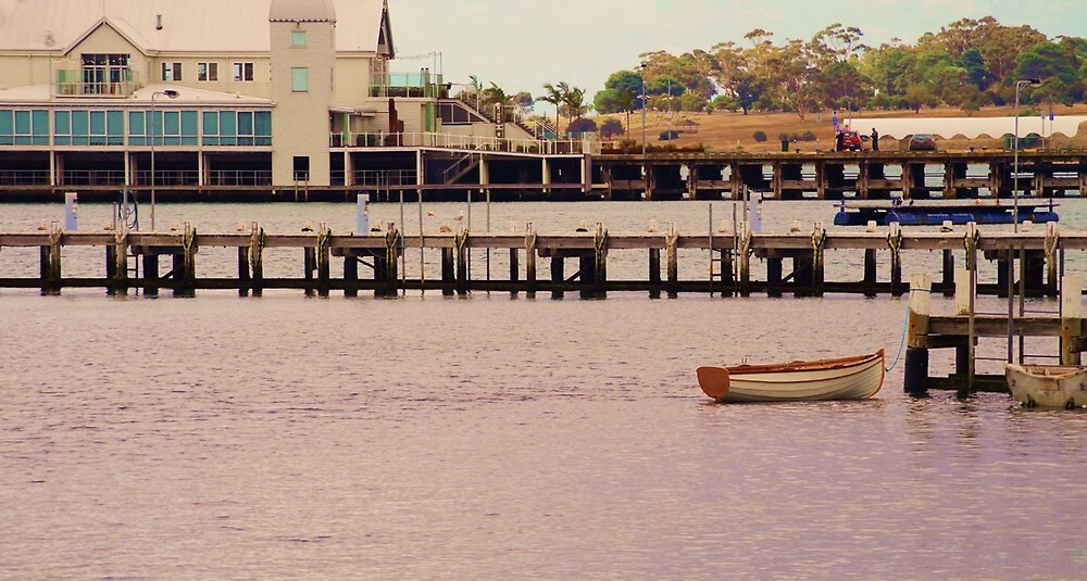 Boat and Pier by FreckledLily