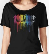 Rainbow Zombie Shuffle: Version One Women's Relaxed Fit T-Shirt