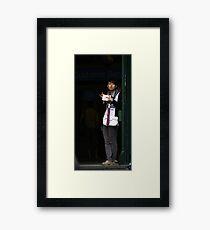 Lean Framed Print