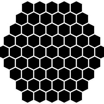 Honeycomb Swirl, Black on White by thomasb139