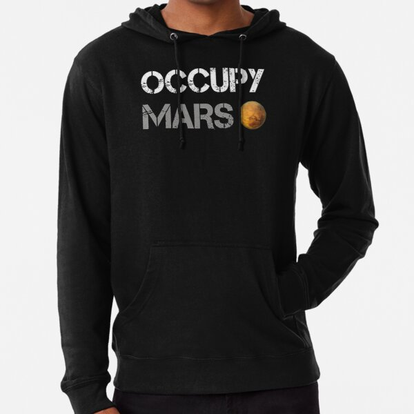 Occupy Mars - Elon Musk SpaceX Project Gift ideas Lightweight Hoodie