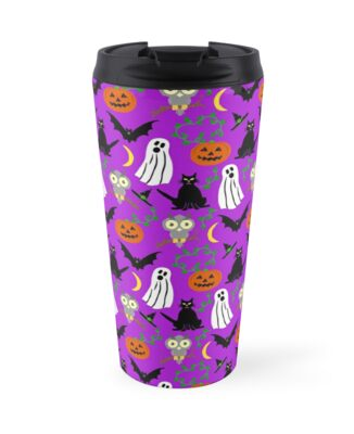 Halloween Collage Cute Cartoon Pattern by emkayhess