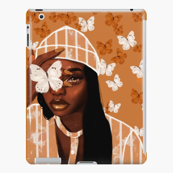 Faded, orange and white butterfly, portrait iPad Snap Case