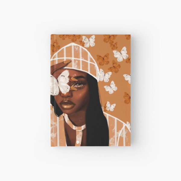 Faded, orange and white butterfly, portrait Hardcover Journal