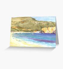Beach at Parga Greeting Card